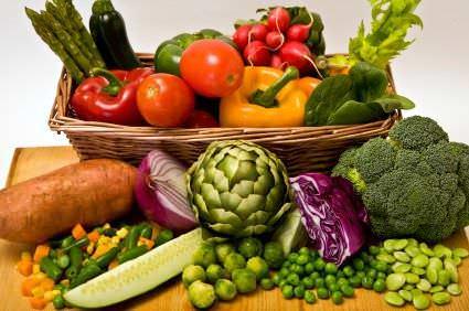Canasta con verduras
