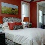 dormitorio decorado de rojo
