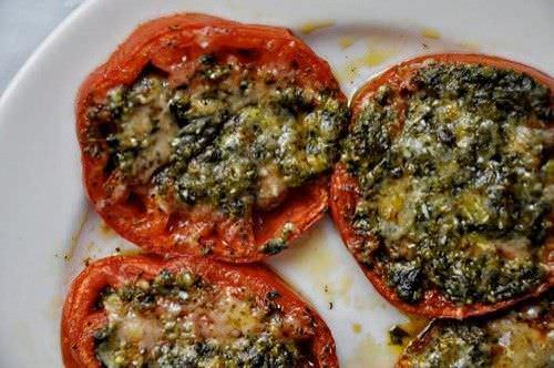 Tomates confitados con Pesto y Parmesano1