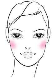 Como aplicar el rubor segun la forma de su rostro3