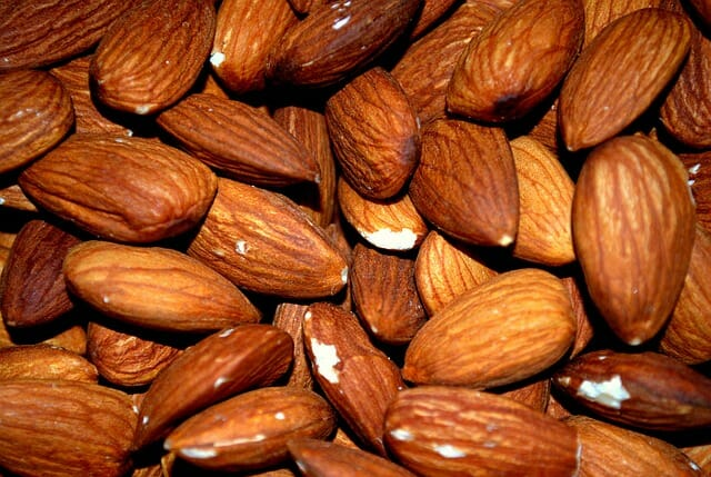 Las almendras son una fuentes rica de magnesio.